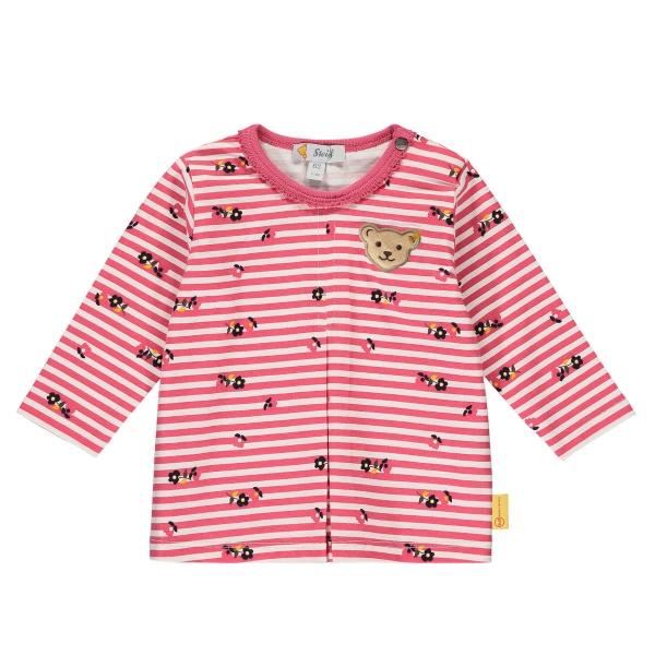Steiff Baby Shirt lg.Arm Ringel Blüten