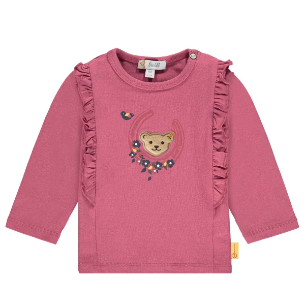 Steiff Baby Shirt lg.Arm Mäd.Hufeisen