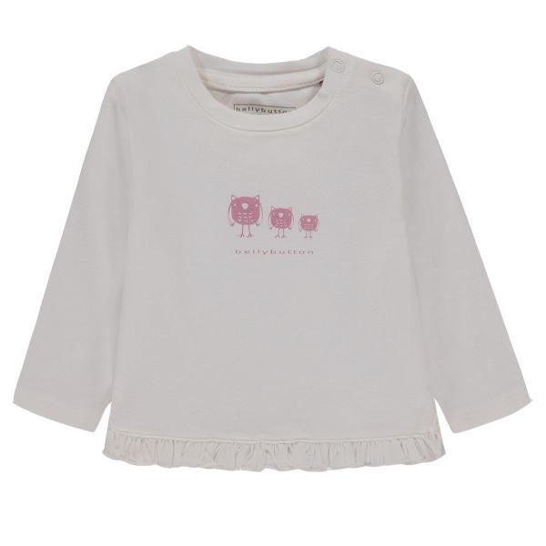Bellybutton T-Shirt lg.Arm Rüsche Vogel