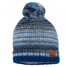 Maximo Strick Mütze blau bunt Bommel