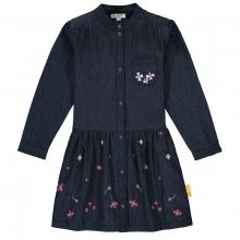 Steiff Jeans Kleid Blütenstickerei