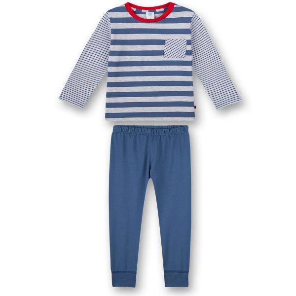 Sanetta Pyjama lang Ju. geringelt