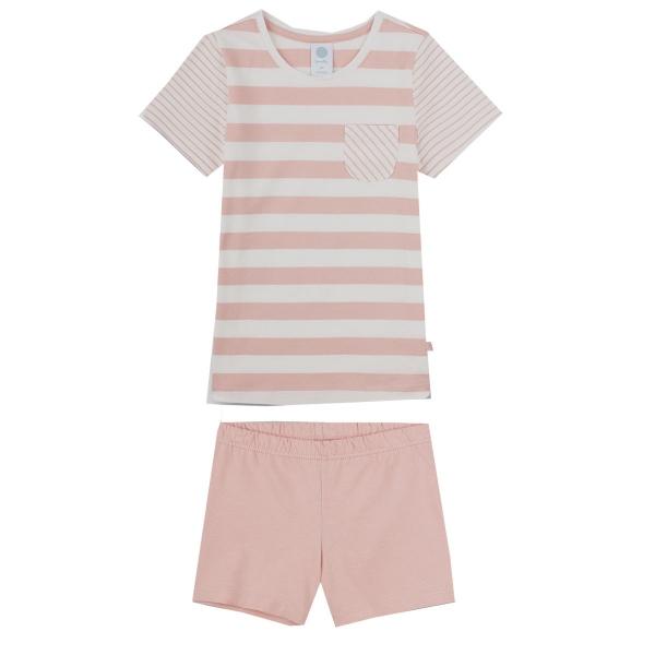 Sanetta Pyjama kurz Mäd. geringelt