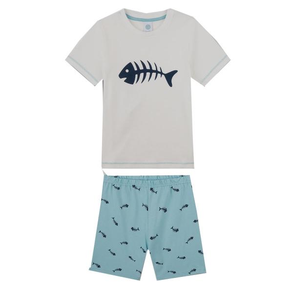 Sanetta Pyjama kurz Ju. Fischgräte