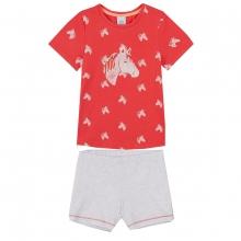 Sanetta Pyjama kurz Mäd.Pferdeköpfe