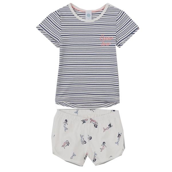 Sanetta Pyjama kurz Mäd.Nixe Ringel