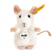 Steiff Maus Pilla,weiss aufwartend