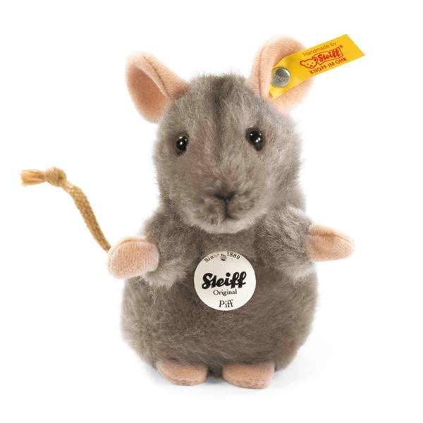 Steiff Maus Piff,grau aufwartend