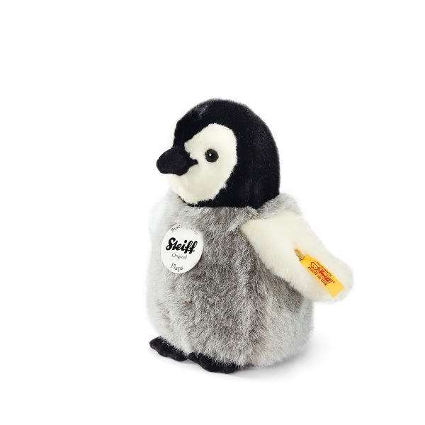 Steiff Pinguin Flaps, grau/weiss