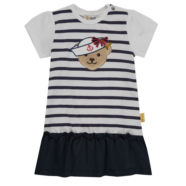 Steiff Baby Kleid Marine Air geringelt