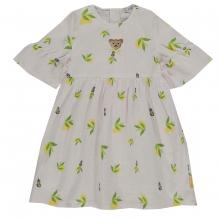 Steiff Kleid Volantarm Zitronen