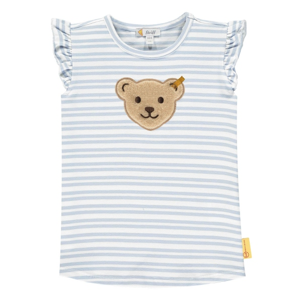 Steiff Shirt Mäd.o.Arm Rüschenarm Ringel