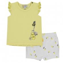 Steiff Baby Shorts+Shirt o.Arm Mäd.Zitro