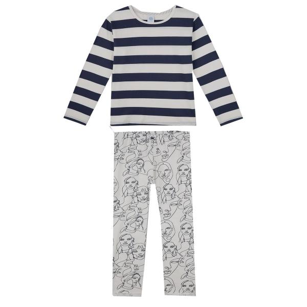 Sanetta Pyjama lang Mäd.Ringel Köpfe