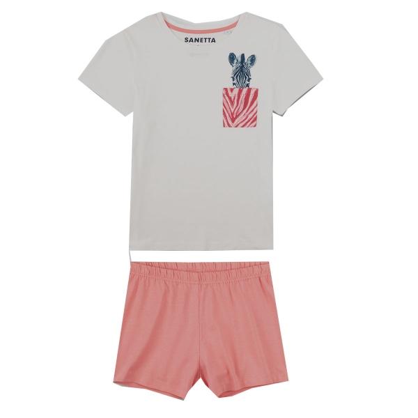 Sanetta Pyjama kurz Mäd.Zebra Tasche