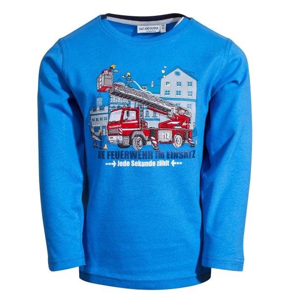 Salt & Pepper Shirt lg.Arm Feuerwehrauto