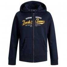 Jack & Jones Sweatjacke Logo vorn Kapuze