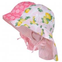 Maximo Hut Nackenschutz Blüten/Zitrone