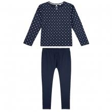 Sanetta Pyjama lang Mäd. blau Punkte