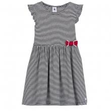 Petit Bateau Kleid blau Ringel Schleife