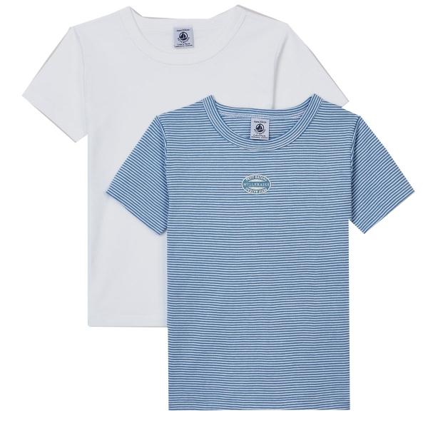 Petit Bateau Ju Unterzie-Shirt 2er Ri/un