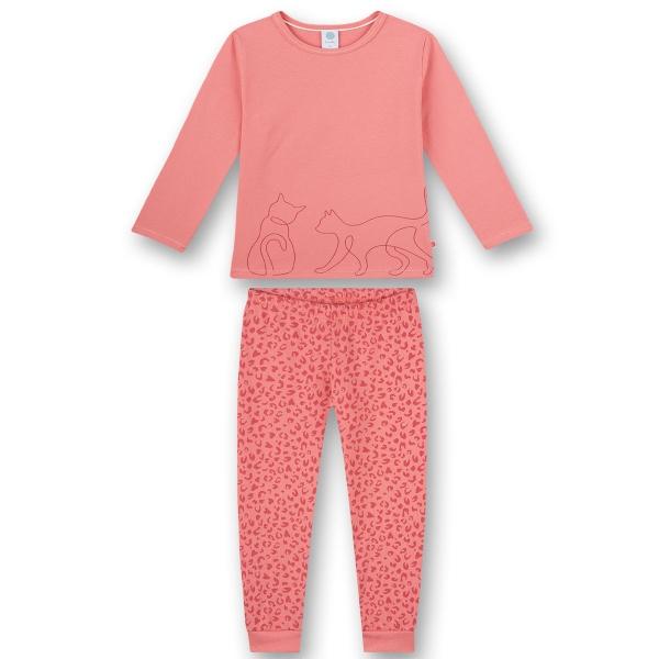 Sanetta Pyjama lang Mäd.zwei Katzen