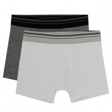 Sanetta 2er Boxershort grau/weiss