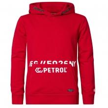 Petrol Hoodie Logo an Tasche