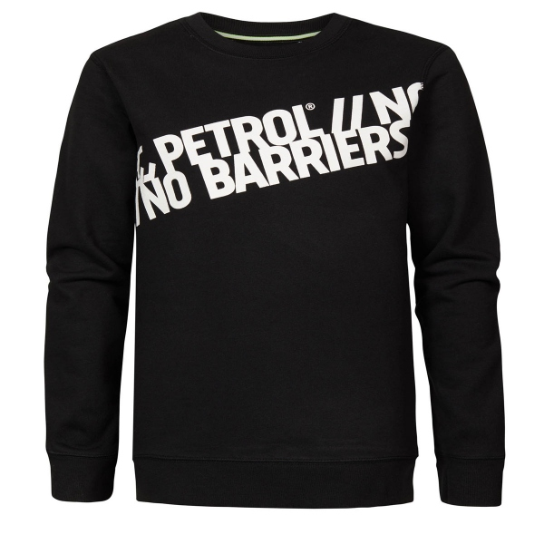 Petrol Sweatshirt schräge Schrift