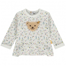 Steiff Baby Shirt lg.Arm Rüsche Blümchen