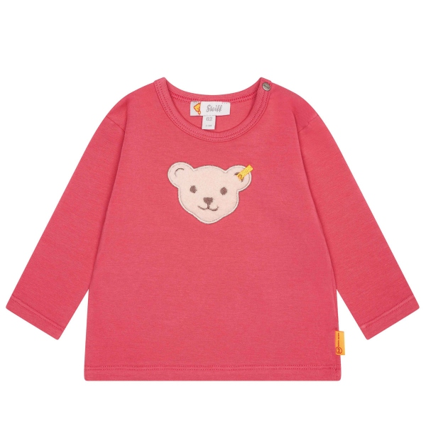 Steiff Baby Shirt lg.Arm Mäd.Teddykopf