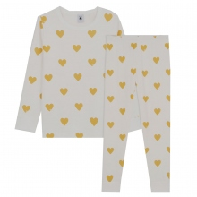 Petit Bateau Pyjama Mäd. lang Herzen