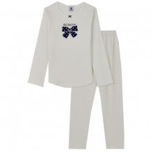 Petit Bateau Pyjama Mäd. lang Schleife