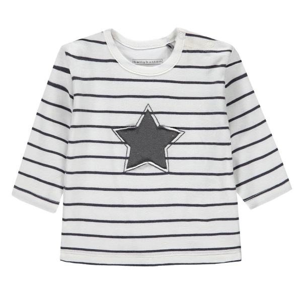 Bellybutton Shirt lg.Arm Ju.Ringel Stern