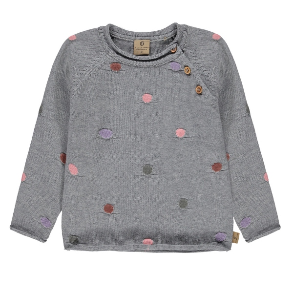 Mother Nature Pullover bunte Punkte