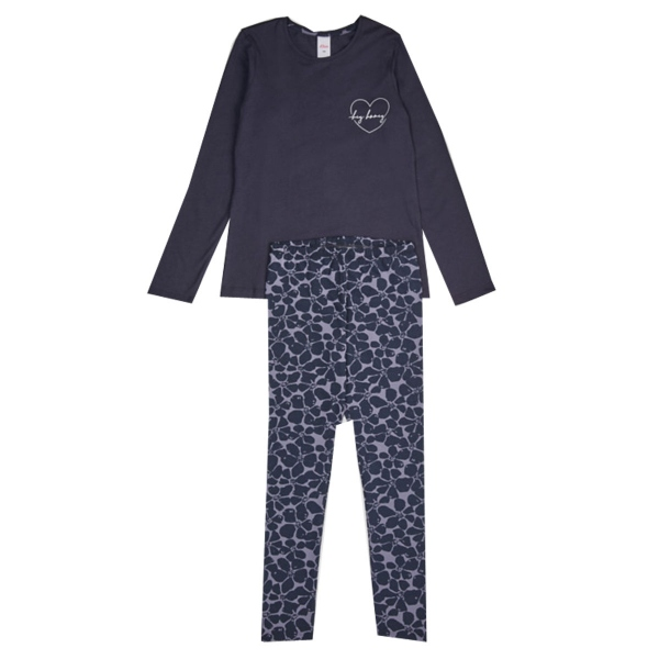 S`Oliver Pyjama Mäd.lang kleines Herz