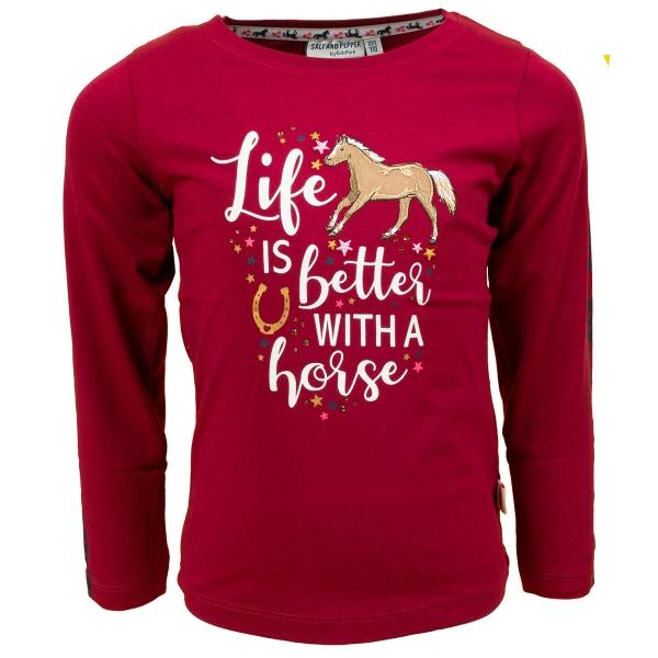 Salt & Pepper Shirt lg.Arm Life Pferd