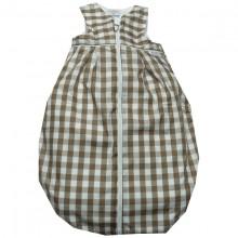 TAVO Frottee Schlafsack großes Karo - braun-weiß